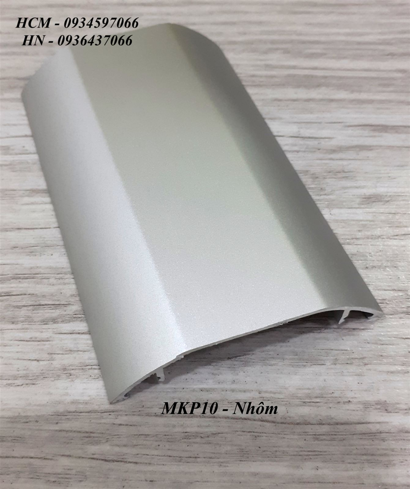 Nẹp dây điện MKP10-nẹp nhôm bán nguyệt MKP10