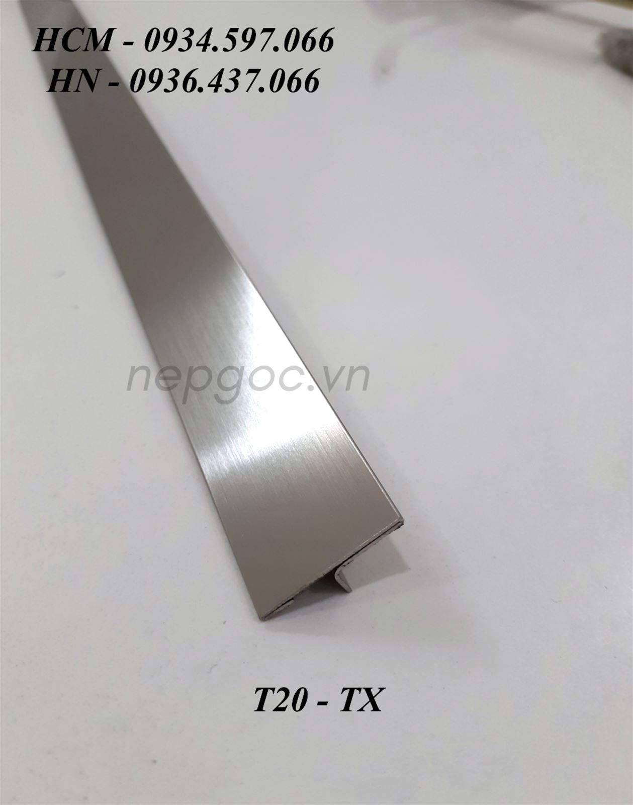 Nẹp Inox JECA T20mm trắng xước