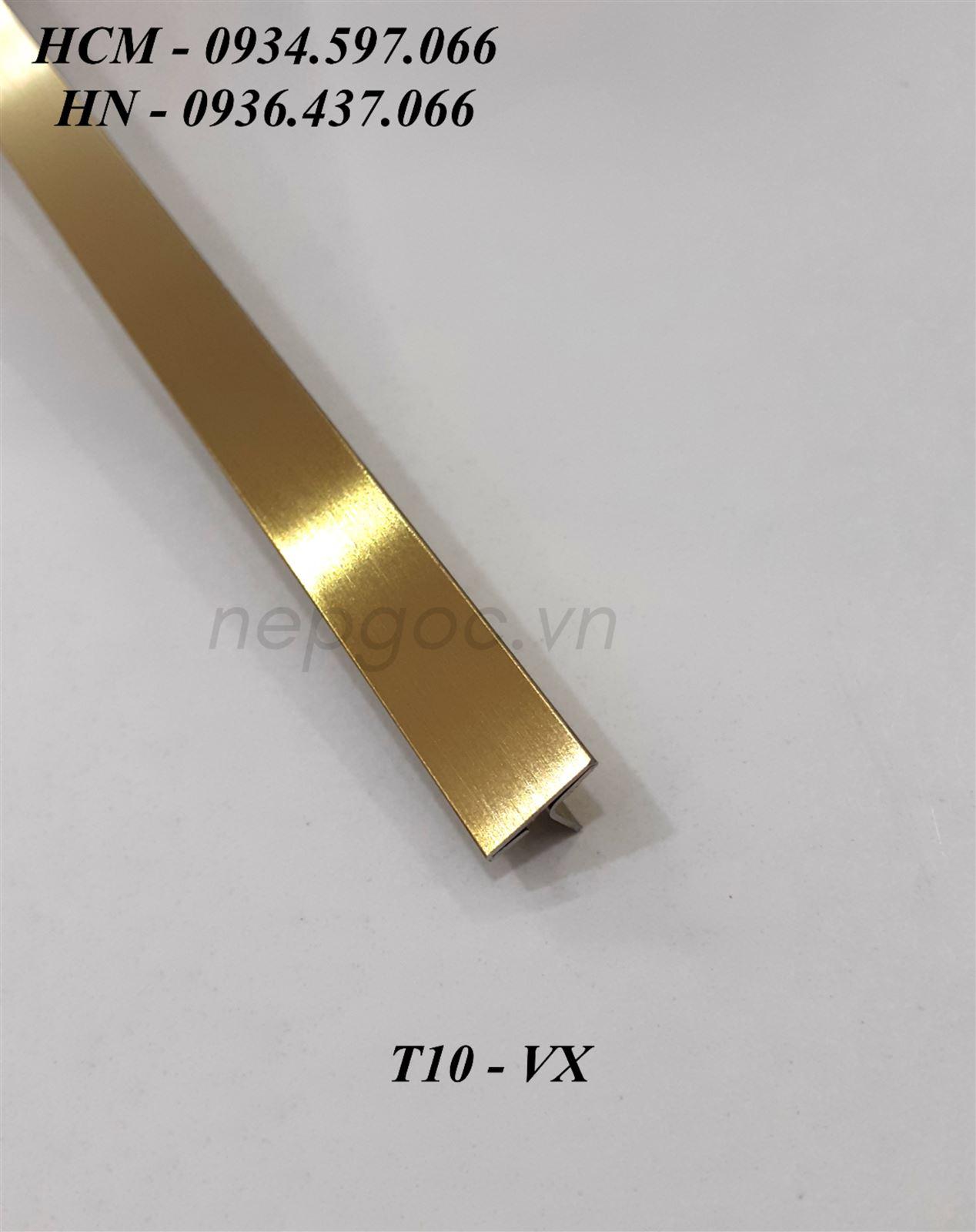 Nẹp Inox JECA T10mm vàng xước