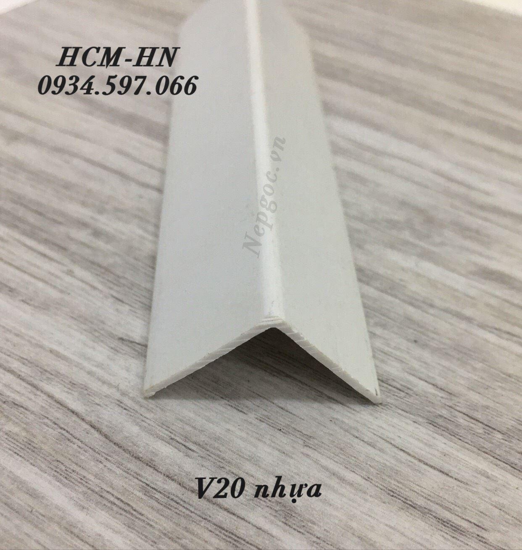 Nẹp nhựa ốp góc chữ V20- nẹp góc - nẹp nhựa PVC