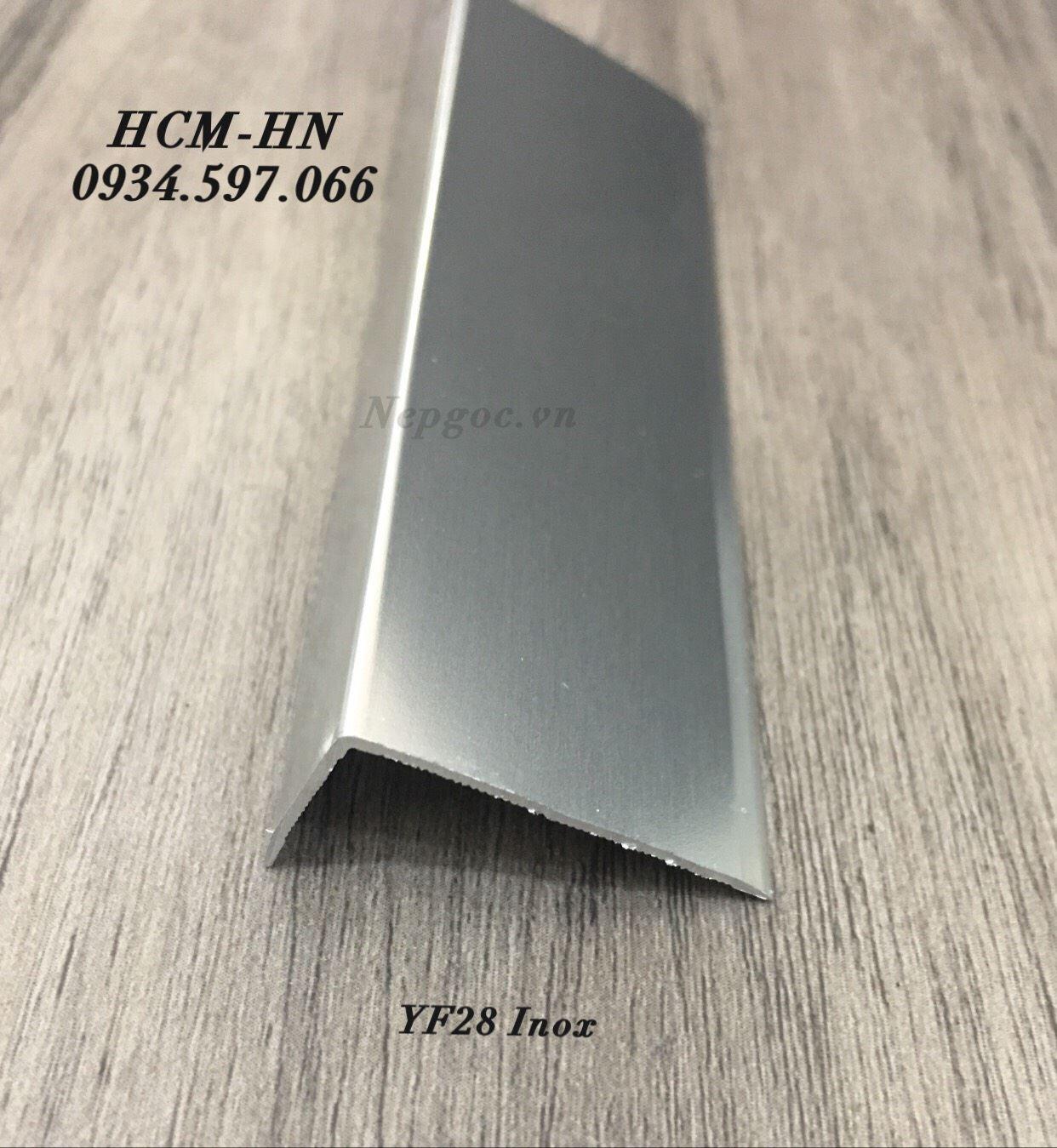 Nẹp nhôm góc ngoài YF28- nẹp chữ L- nẹp kết thúc YF28