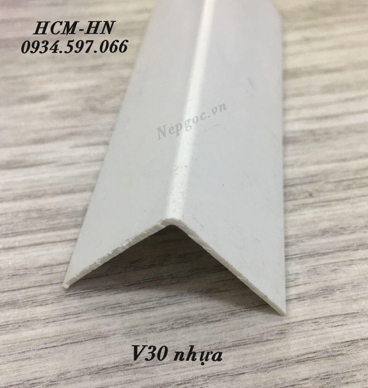 nẹp nhựa ốp góc chữ V30- nẹp góc- nẹp chữ V