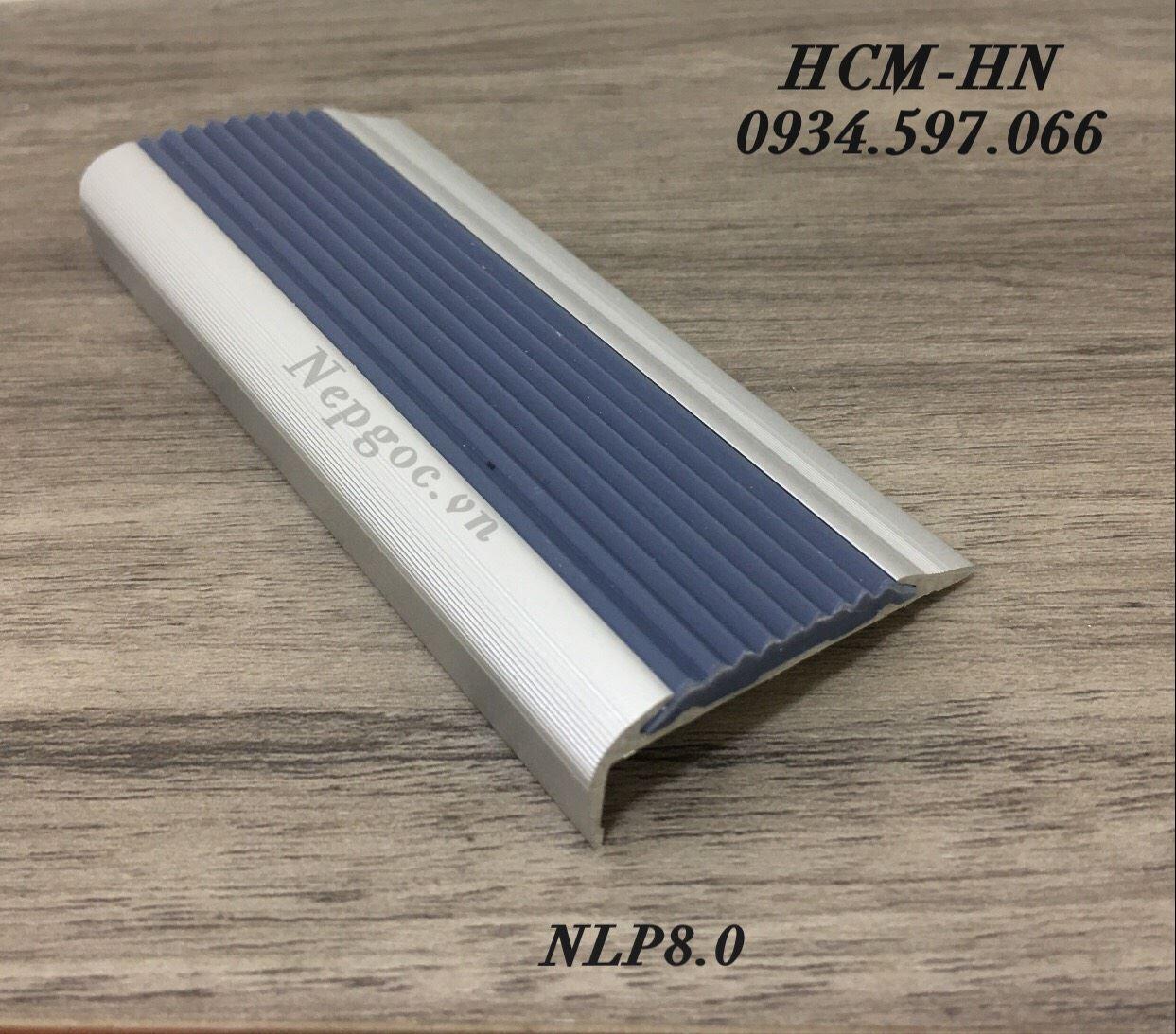 Nẹp chống trơn cầu thang NLP8.0- nẹp mũi bậc cầu thang NLP8.0