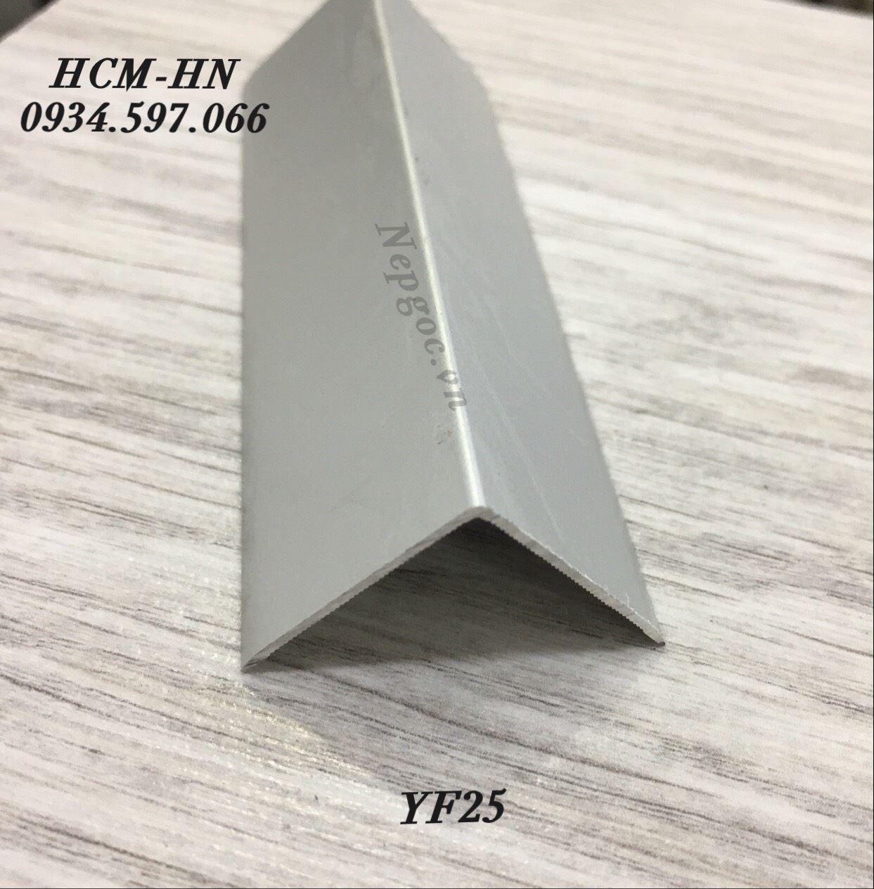 Nẹp góc ngoài YF25, nẹp nhôm chữ V25