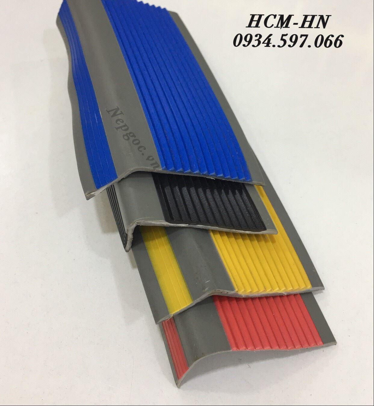 Nẹp chống trơn cầu thang bằng nhựa PVC , nẹp mũi bậc cầu thang nhưa PVC cao cấp