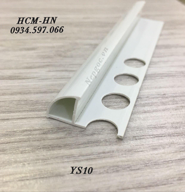 Nẹp nhựa PVC góc tròn YS10- nẹp bo góc