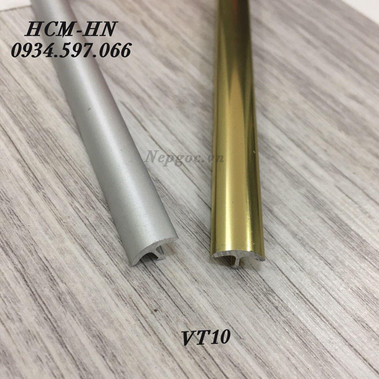 Nẹp trang trí VT10- nẹp chỉ T10 cong